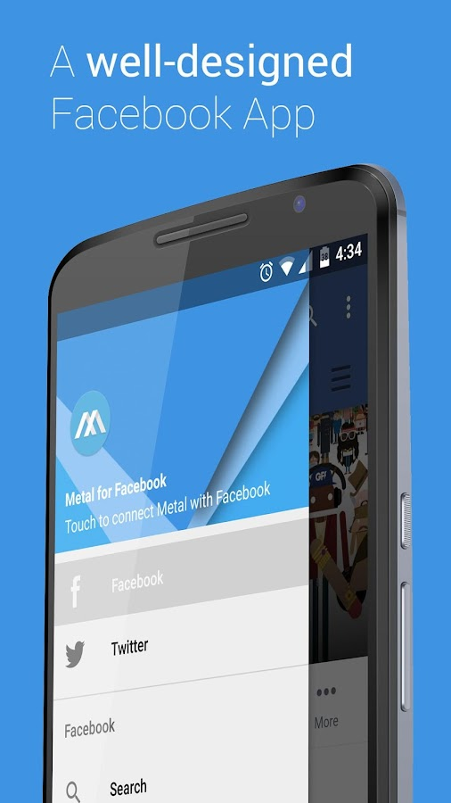 Metal for Facebook & Twitter- screenshot