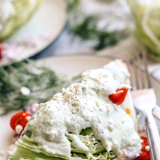 Greek Wedge Salad with Tzatziki Dressing
