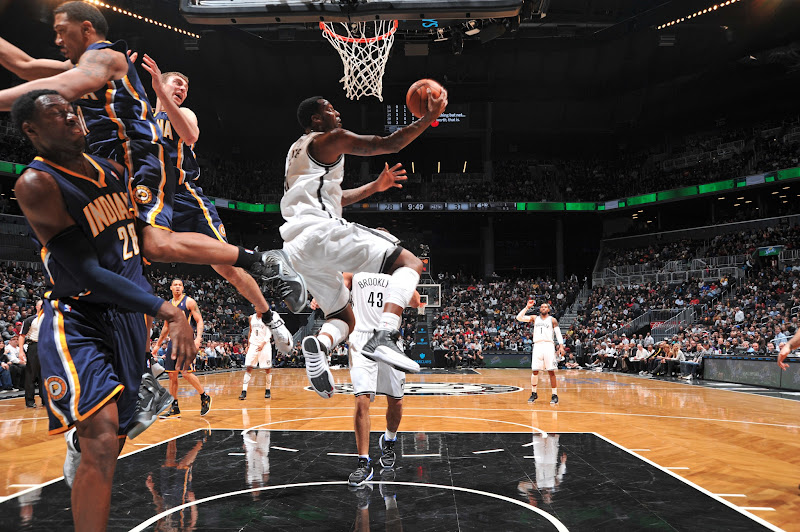 Photo: Gerald Wallace #45 of the Brooklyn Nets shoots against the Indiana Pacers during the game at the Barclays Center on January 13, 2013 in Brooklyn, New York.