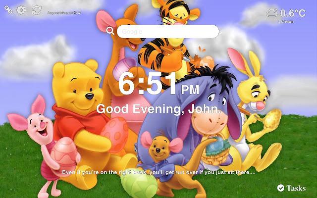 Winnie Pooh Wallpaper and Tab Theme