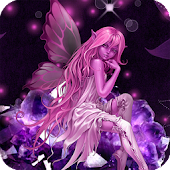 Pink Fairy HD Live Wallpaper
