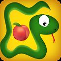 snake eat fruit game icon