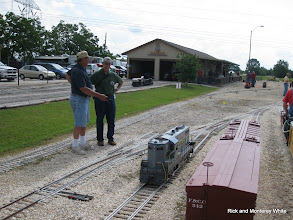 Photo: Jack Haskins and Chris Schieck look at Jack's GP 7.  HALS-SLWS 2009-0523