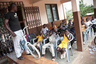 Photo: Mechanic Akapo helps train kids