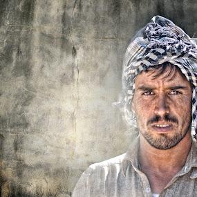 Pakistani In Arab Land by Angelito Cortez - People Portraits of Men ( street, people, portrait, man )