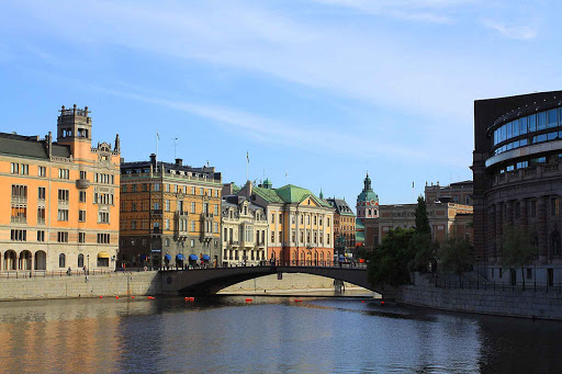 Sweden-Stockholm-bridge - Stockholm is built on 14 islands, with bridges spanning its many waterways.