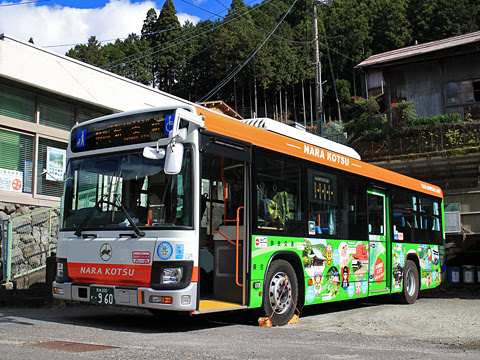 奈良交通「八木新宮線」 ・960 上野地にて