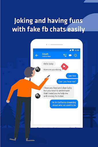 Funny chats - fake messenger 1.0.4 screenshots 1