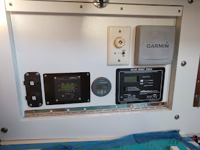 Photo: Instrument Panel with addition of inverter controler (bottom row second from left.)