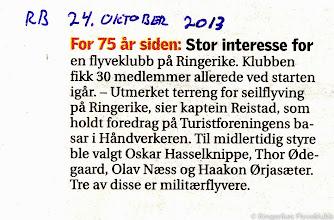 Photo: RFK i RingBlad 24.oktober 2013. RFK 75 år.