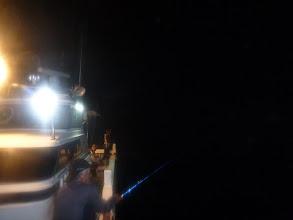 Photo: さあー、夜釣りスタート1 ・・・カメラのレンズが汚れてました。