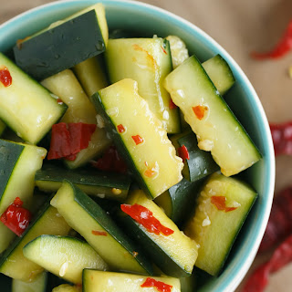 Spicy Chinese Cucumber Salad.