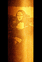 Photo: MONA LISA - FREE HAND SCRATCH - BLIND ART SCRATCHADELIA 2012 VISION - BLIND DATA : PLEASE DO TOUCH SOLO SHOW at SHOREDITCH CHURCH LONDON UK