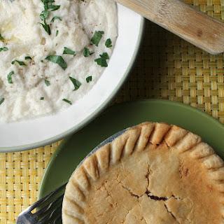 Marie Callender's Beef Pot Pie over Kohlrabi Mash