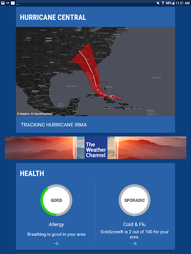 Screenshot 13 for The Weather Channel's Android app'