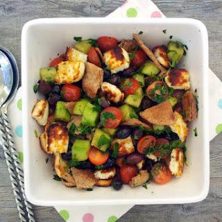 "Grilled Halloumi ""Fattoush"" Salad [vegetarian]"