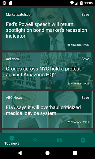 Reactive News screenshot 1