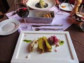 Photo: Salted herring with pickles and beets