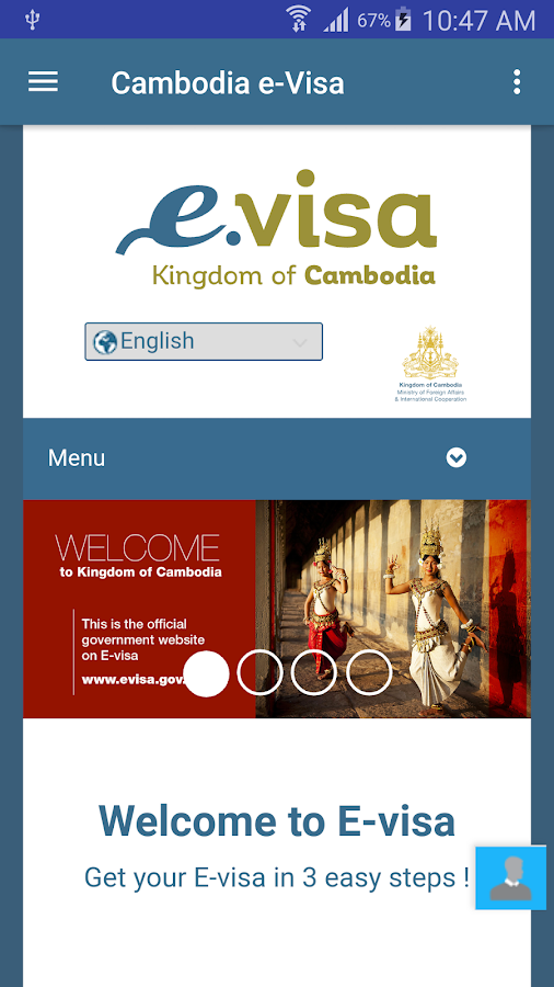 Cambodia eVisa- screenshot