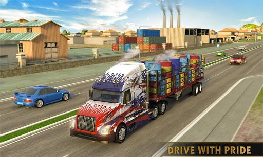 Télécharger Gratuit Euro Truck Driving Simulator Transport Truck Games APK MOD (Astuce) screenshots 2