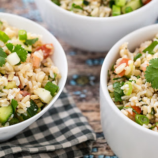 Hollywood Bowl Brown Rice Salad.