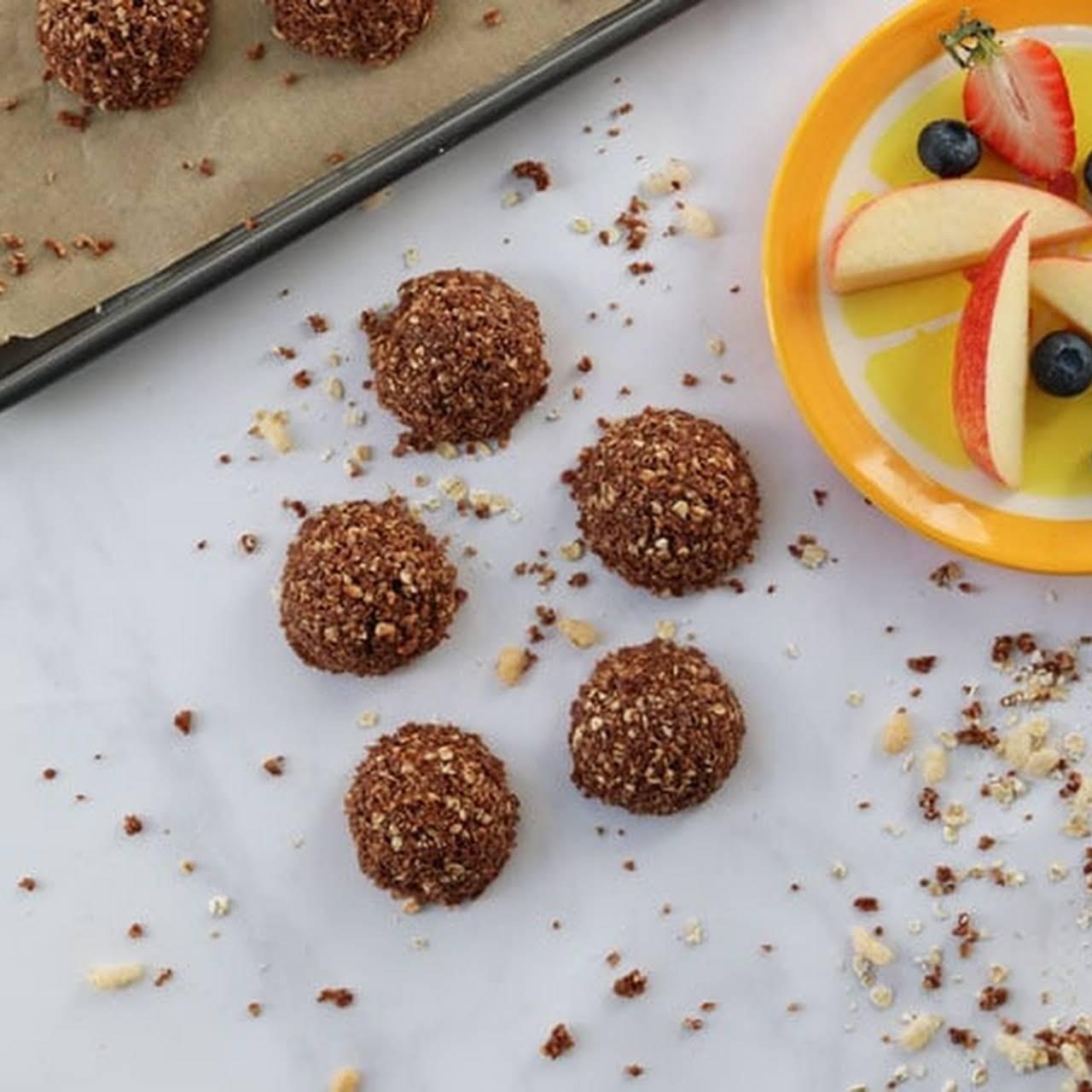 Chocolate Coconut Crispy Bites