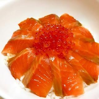 Seafood Oyakodon with Salmon and Ikura