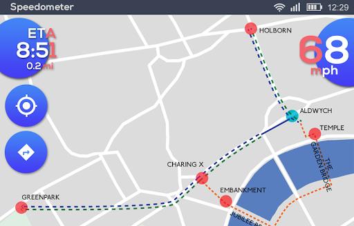 GPS Speedometer: HUD Digi Distance Meter screenshot 3
