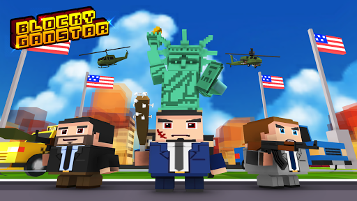 Blocky Gangstar: Pixel Shooter & Mafia City  captures d'écran 1