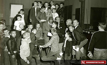 Photo: A visit to the Bartlesville Boys Club in January of 1957.