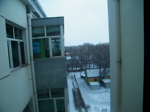 Photo: the first snow in lunar 2009. snow scene outside of emakingir's house.