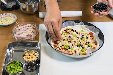 黒千石レシピ:黒千石大豆たちのお豆ピザ・作り方