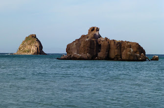 Photo: Off shore rocks at Candelero Bay.
