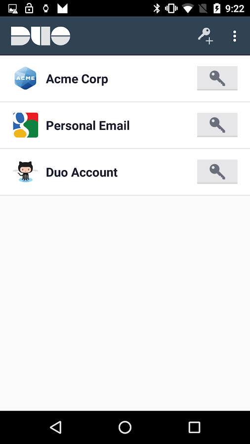 Duo Mobile- screenshot