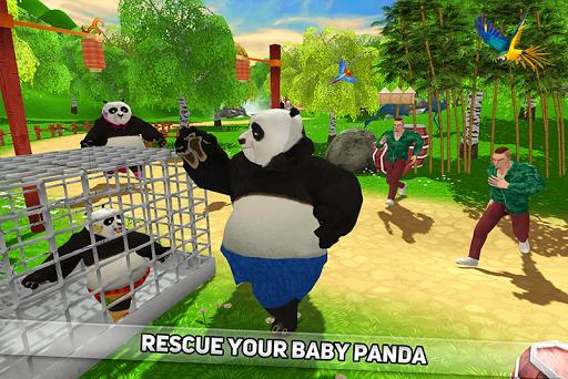 Wild Panda Family: Kung Fu Jungle Survival apktram screenshots 2