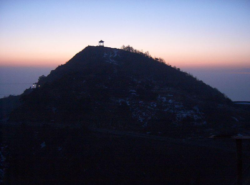 File:Sunset at Mt Tai.JPG