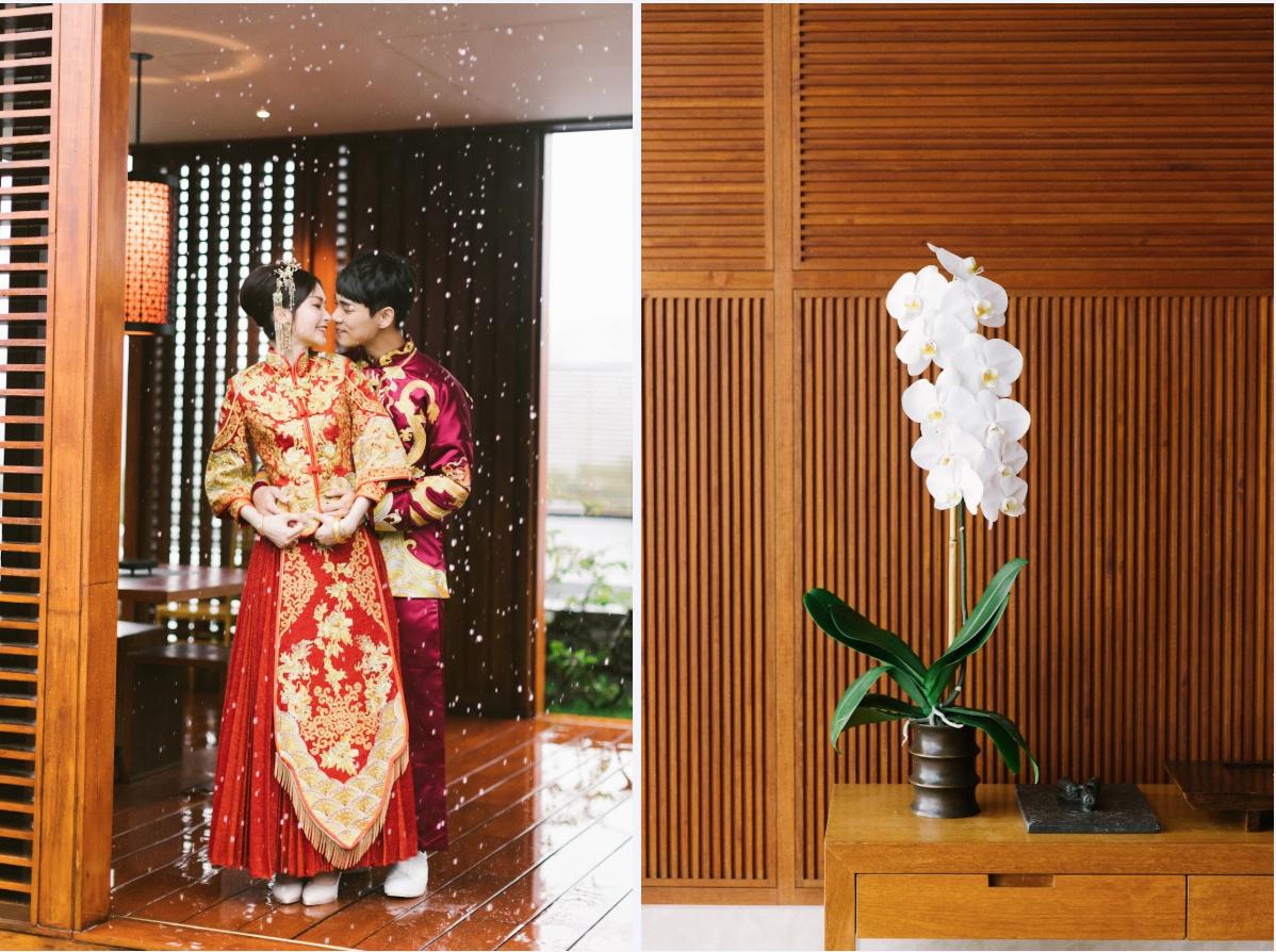 下雨的 涵碧樓婚禮攝影相片