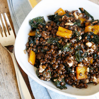 Balsamic Kale and Black Lentils Recipe