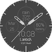Lambdλ™ Flat Watch Face
