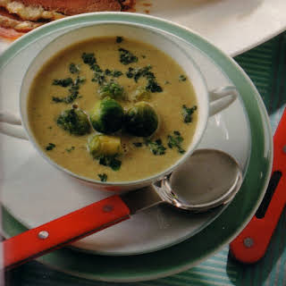 Authentic German Brussels Sprout Soup.