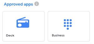 Approved apps examples