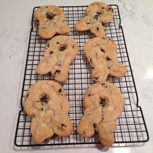 Cool 5 minutes on the cookie sheet and then carefully remove to cooling racks....