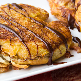 Cookie Butter & Bacon Stuffed French Toast