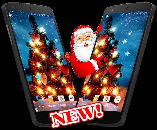 クリスマスツリーの3Dライブ壁紙