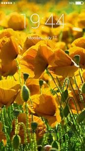 Flower World Lock Screen - náhled