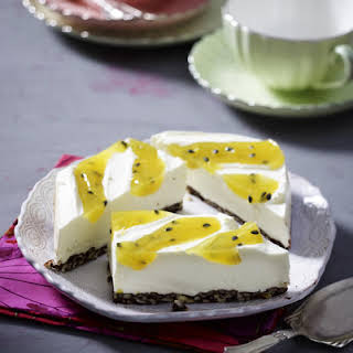Passion Fruit Cheesecake.