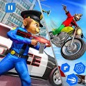 US Police Monkey Rope Hero:Police Shooting Attack icon