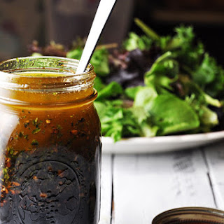Homemade Balsamic Vinaigrette Salad Dressing.