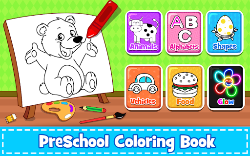 Coloring Games : PreSchool Coloring Book for kids 2.8 screenshots 1