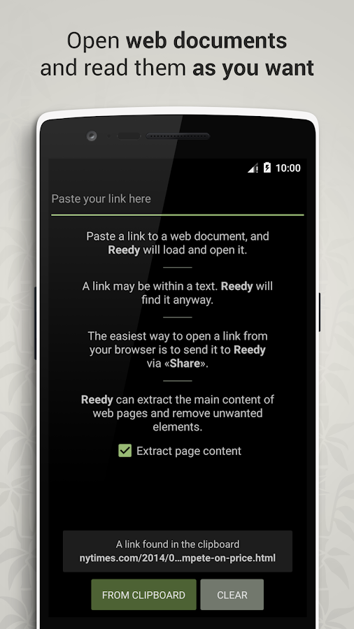 Reedy. Intelligent reader- screenshot